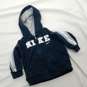 Nike 12 mos Blue Hooded Sweatshirt Hoodie Baby Boy